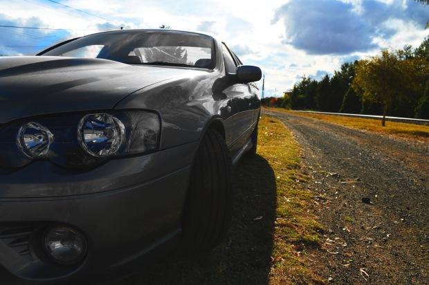 ute-on-road