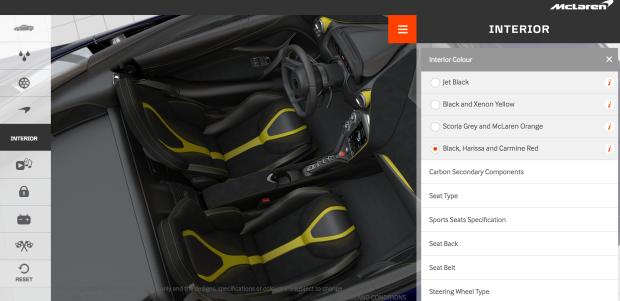 720S Interior Options